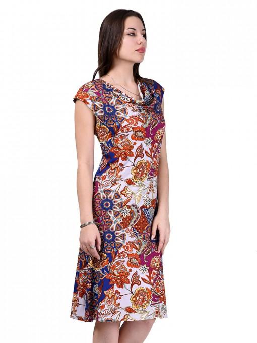 Платье мод. 1413-1 цвет Терракотовый