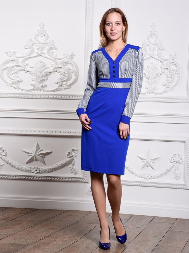 Платье мод. 1422-1 цвет Васильковый