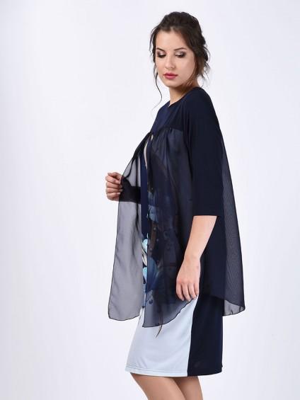 Платье мод. 1444 цвет Синий