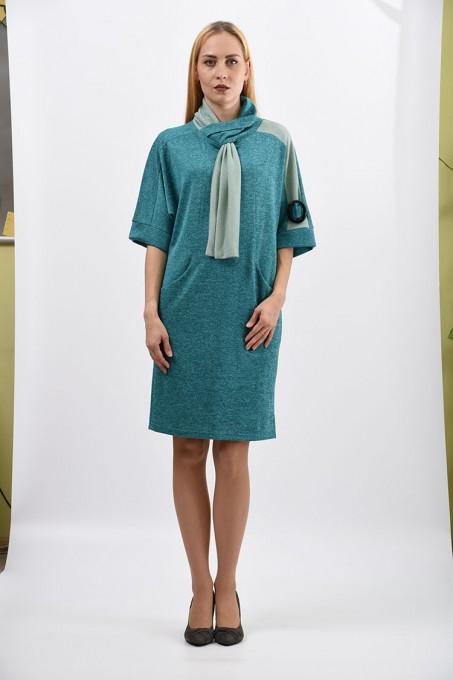 Платье мод. 1445-1 цвет Бирюзовый