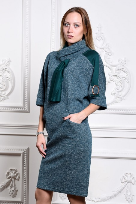Платье мод. 1445-1 цвет Изумрудный