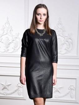 Платье мод. 1446 цвет Черный+серебро