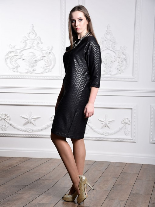 Платье мод. 1446 цвет Черный+серебряный