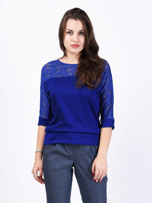 Блуза мод. 1447-1 цвет Васильковый