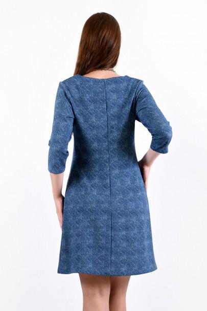 Платье мод. 1454-2 цвет Голубой