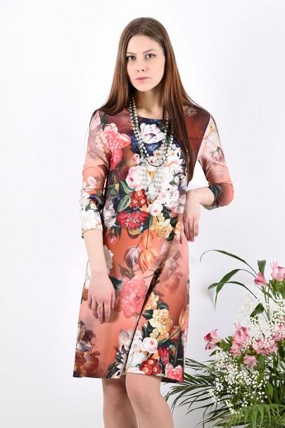Платье мод. 1454-2 цвет Терракот