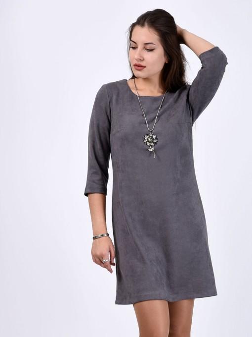 Платье мод. 1454 цвет Серый
