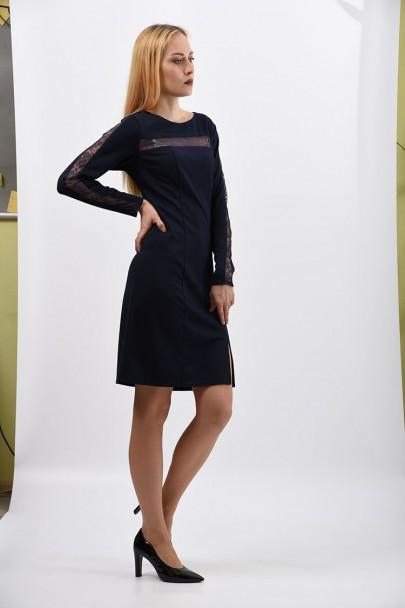 интернет магазин женской одежды,Платье мод. 1460 Синий цвет,женская одежда оптом и в розницу