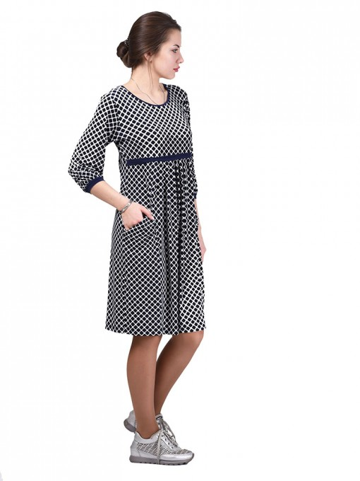 Платье мод. 1463-4 цвет Синий