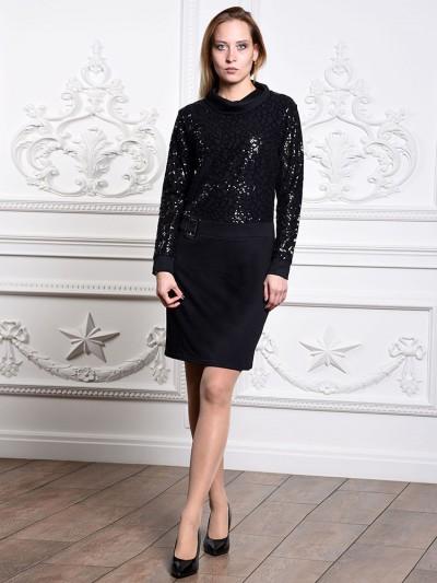 Платье мод. 1472-1 цвет Чёрный