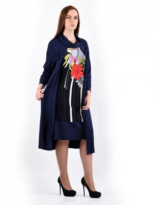 Платье мод. 1486 цвет Темно-синий