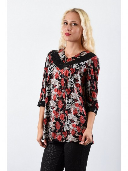 Туника мод. 1502 цвет Чёрный