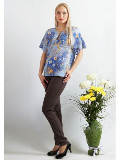 Блузка мод. 1516 цвет Голубой