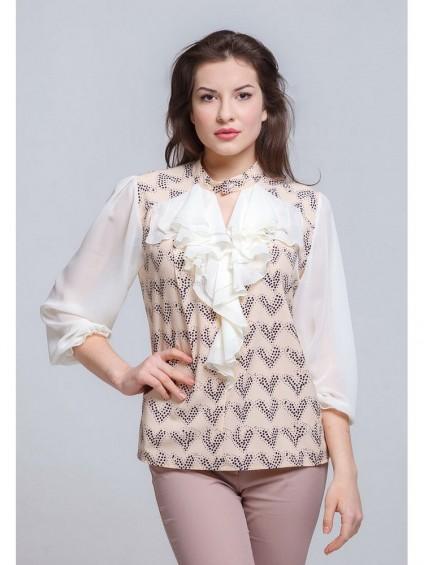 Блуза мод. 1522 цвет Молоко