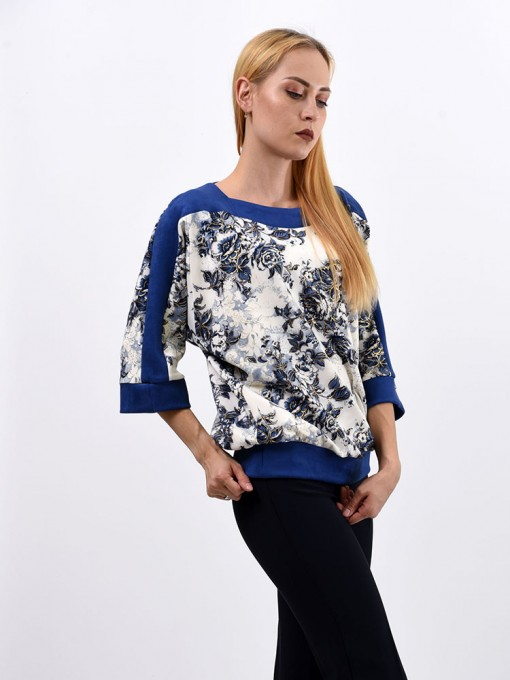 Блуза мод. 1523 цвет Синий