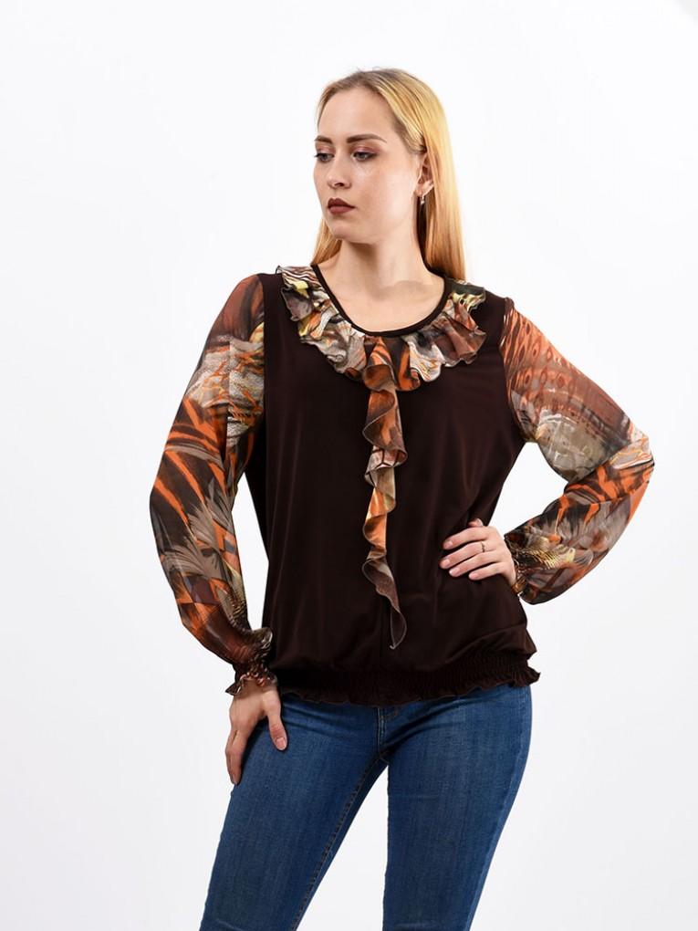 Блуза мод. 1533 цвет Коричневый