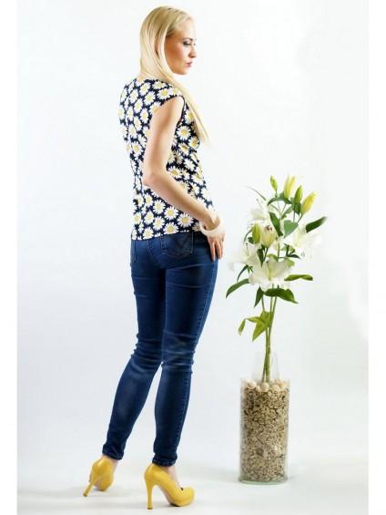 Блуза мод. 1535 цвет Ромашки