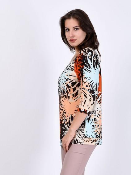 Блуза мод. 1546 цвет Коричневый