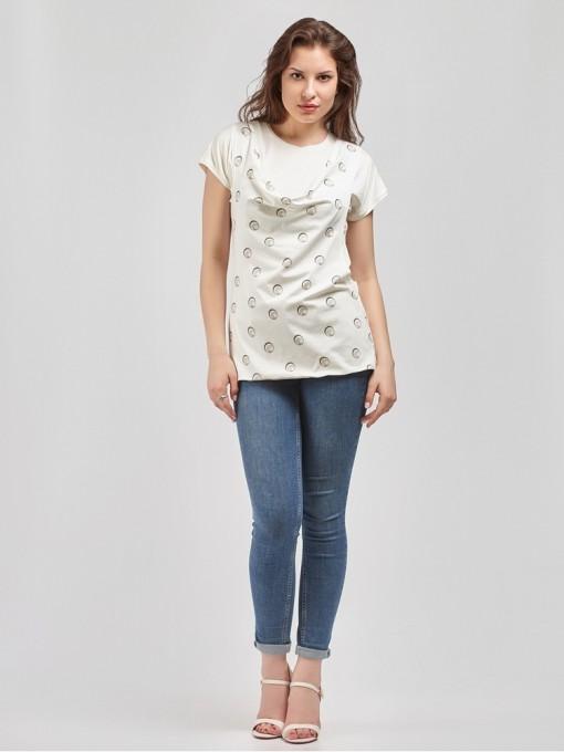 Блуза мод. 1549 цвет Молочный