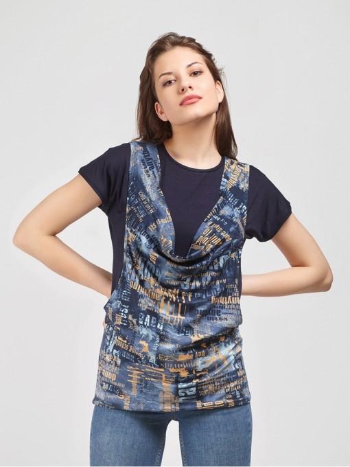 Блуза мод. 1549 цвет Синий