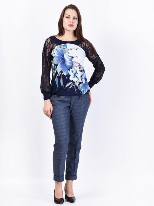 Блуза мод. 1554 цвет Синий