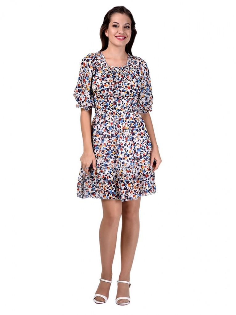 Платье мод. 1564-1 цвет Голубой