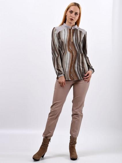 Блузка женская 1565 Бежевый ,интернет магазин женской одежды SHEGIDA