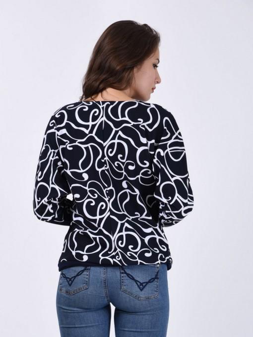 Блуза мод. 1566 цвет Темно-синий
