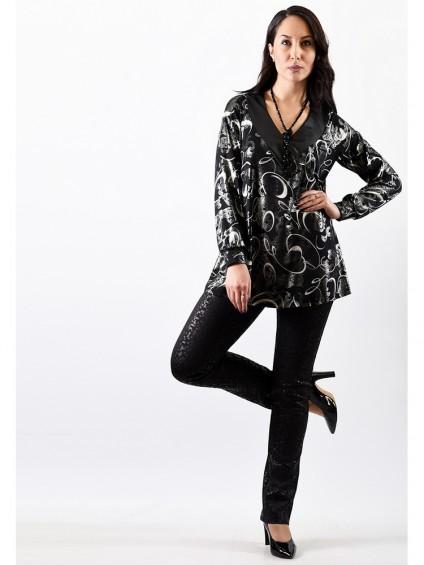 Блуза мод. 1571 цвет Чёрный
