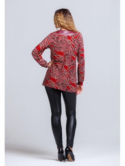 Блуза мод. 1571 цвет Бордовый