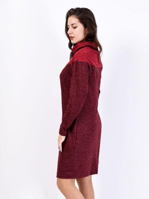 Платье мод. 1572-1 цвет Бордовый