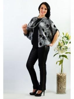 Блуза мод. 1573 цвет Чёрный