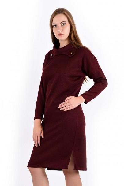 Платье мод. 1574-1 цвет Бордовый