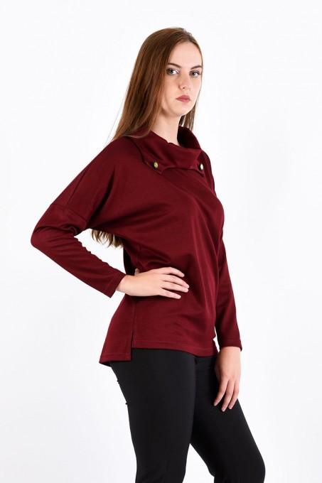 Блуза мод. 1574 цвет Бордовый