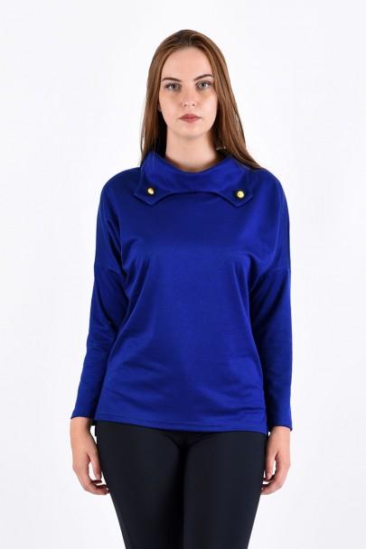 Блуза мод. 1574 цвет Василёк