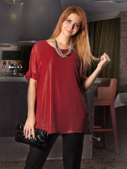интернет магазин женской одежды,Блуза мод. 1588 Бордовый цвет,блузки от производителя