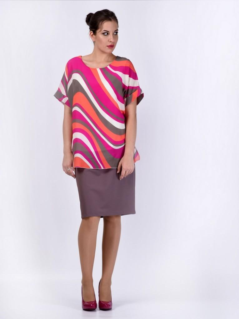 Блуза мод. 1588 цвет Фуксия