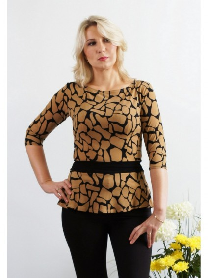 интернет магазин женской одежды,Блуза мод. 1599 Жираф цвет,блузки от производителя