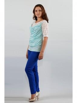 Блуза мод. 1625-1 Голубой цвет