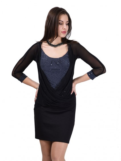 интернет магазин женской одежды,Платье мод. 1628 Чёрный цвет,женская одежда оптом и в розницу