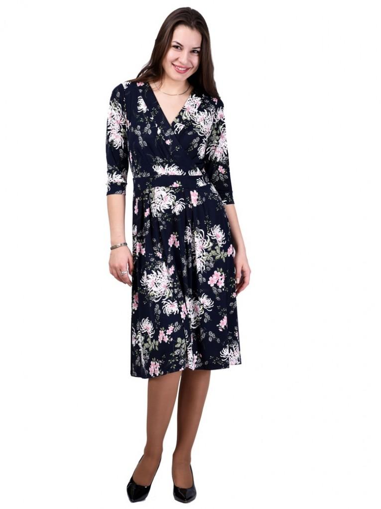 Платье мод. 1649 цвет Темно-синий