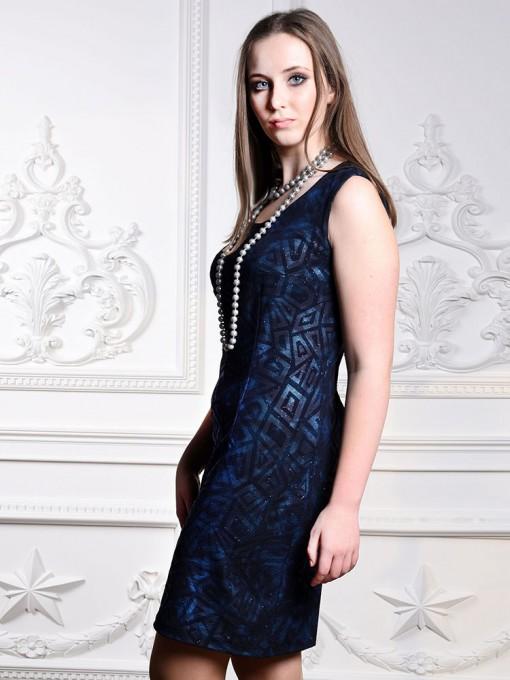 Платье мод. 1658-1 цвет Синий