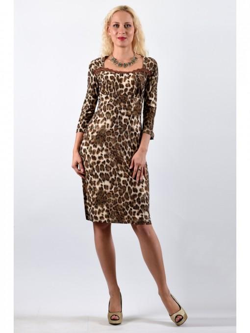 Платье мод. 1676-1 цвет Коричневый