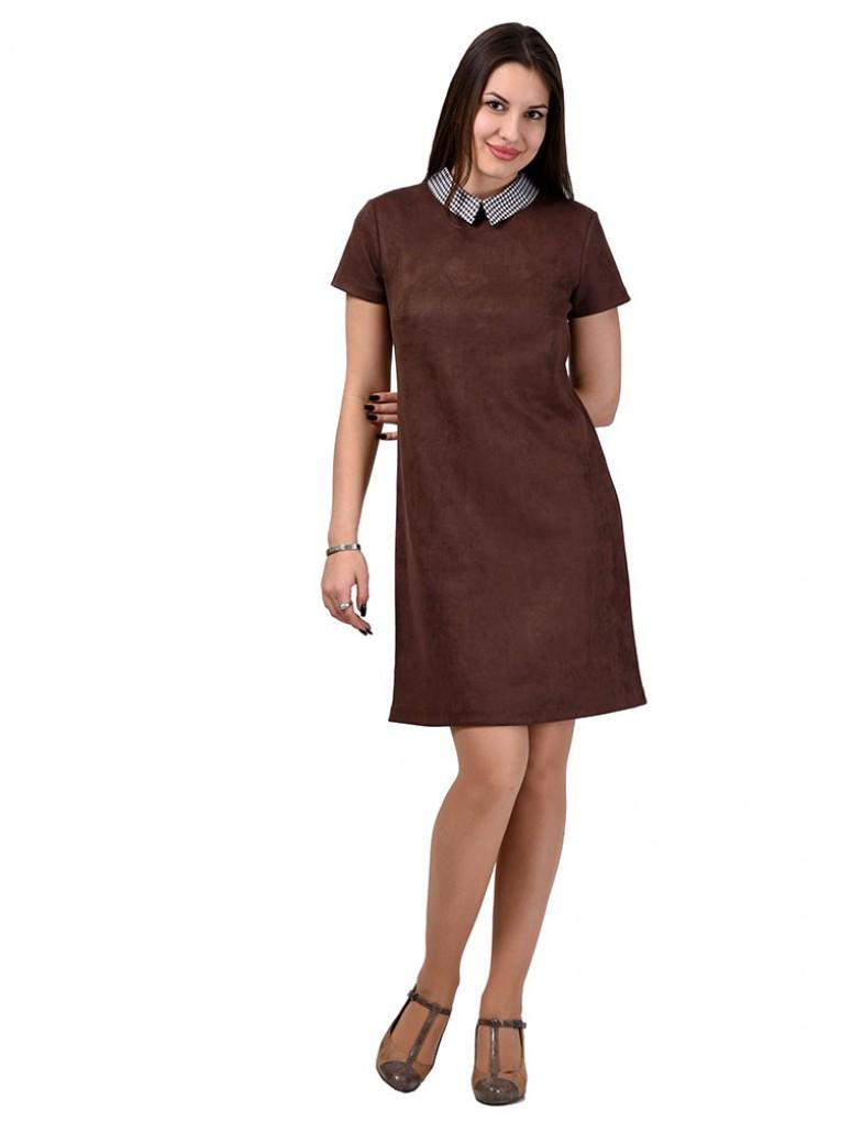 Платье мод. 1678 цвет Коричневый