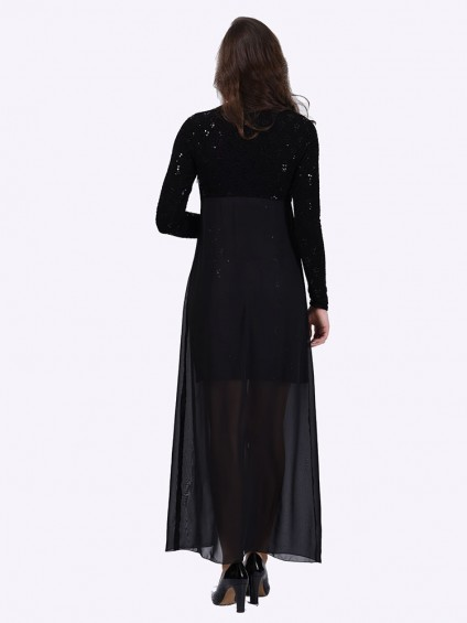 Платье мод. 1680-1 цвет Чёрный