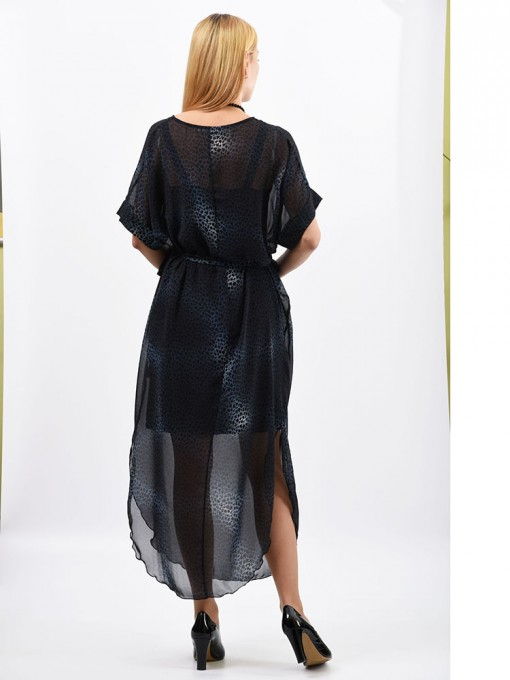 Платье мод. 1688-1 цвет Темно-синий