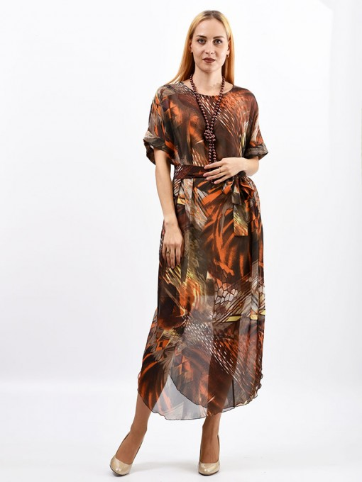 Платье мод. 1688-1 цвет Терракот