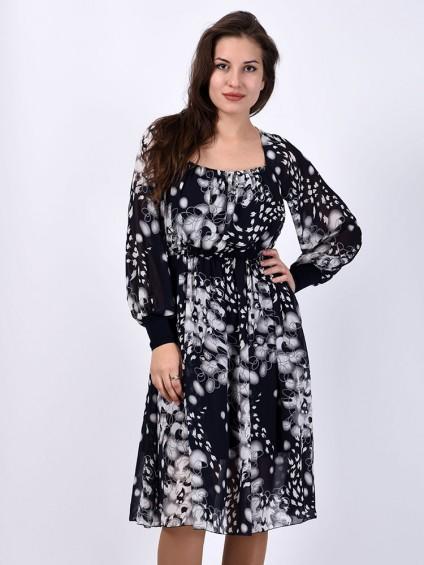 интернет магазин женской одежды, Платье мод. 1716 Синий цвет ,женская одежда оптом и в розницу