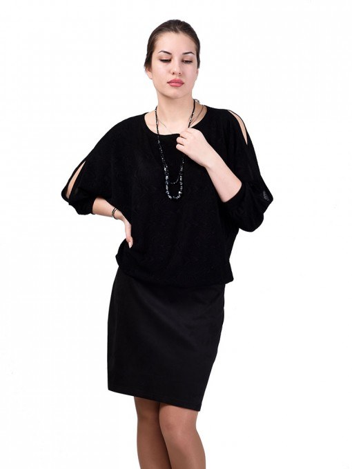 Платье мод. 1747-1 цвет Черный