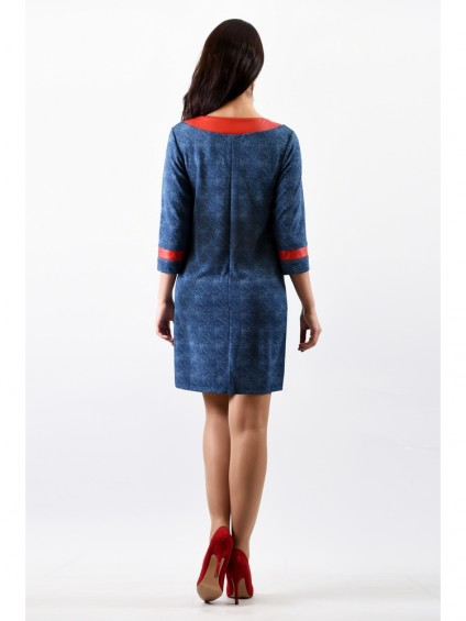 Платье мод. 1757 цвет Голубой